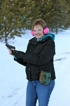 My Mom - with a gun!