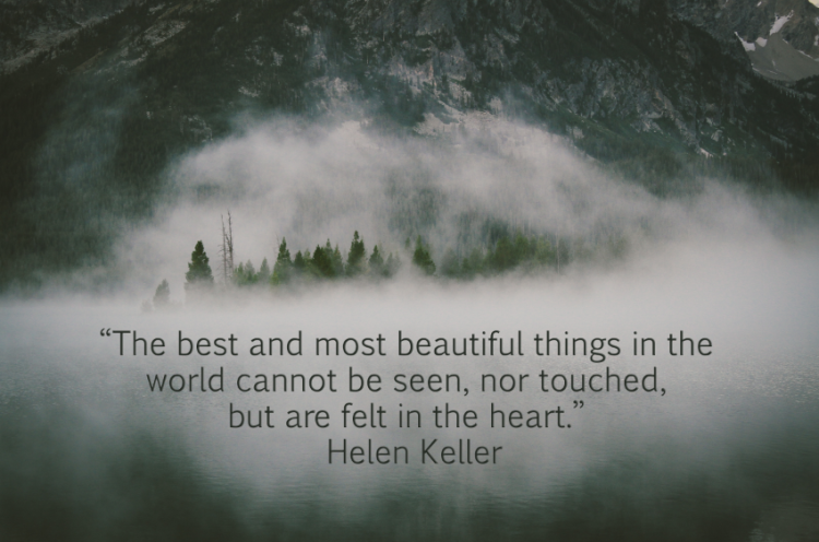 The best and most beautiful things in the world cannot be seen, nor touched, but are felt in the heart. - Helen Keller // LifeLoveandGarlic.com
